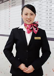 九州観光専門学校/エアライン学科、坂本さん