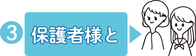 保護者様とオンライン進路相談会に参加!